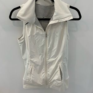 Cream striped Lululemon vest